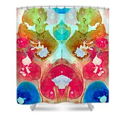 I Found Your Dog - Art By Sharon Cummings Shower Curtain by Sharon Cummings