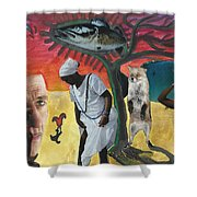 I Had Longed For Something That Would Make Me Think... Shower Curtain
