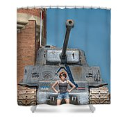 I Have A Tank.  Your Argument Is Invalid Shower Curtain
