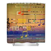 I Have Music In My Heart Shower Curtain