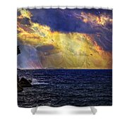 I Have Seen Fire And I Have Seen Rain Shower Curtain