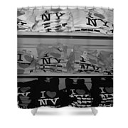 I Heart Ny In Black And White Shower Curtain