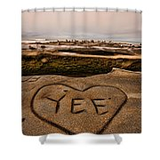 I Heart Yee Shower Curtain