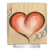 I Love Art Shower Curtain