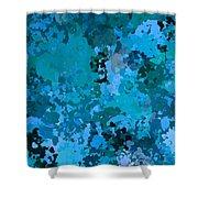 I Love Blue Shower Curtain