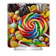 I Love Candy Shower Curtain