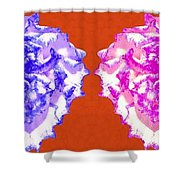 I Love Carnations Collage Shower Curtain