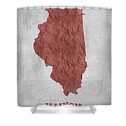I Love Chicago Illinois - Red Shower Curtain