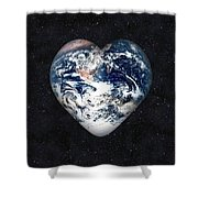 I Love Earth Shower Curtain