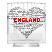 I Love England Shower Curtain