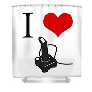 I Love Games Shower Curtain