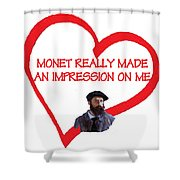I Love Monet Shower Curtain