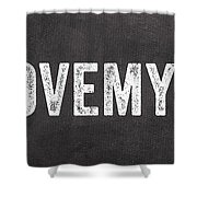 I Love My Dog Shower Curtain by Linda Woods