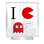 I Love Packman Shower Curtain