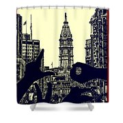 I Love Philly Shower Curtain by Bill Cannon