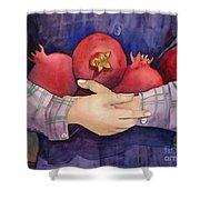 I Love Pomogranates Shower Curtain