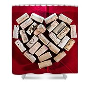 I Love Red Wine - Square Shower Curtain