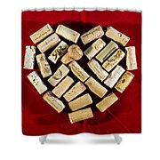 I Love Red Wine - Vertical Shower Curtain