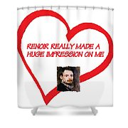 I Love Renoir Shower Curtain