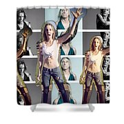 I Love You Iggy Pop Shower Curtain