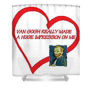 I Love Van Gogh Shower Curtain