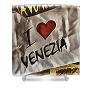 I Love Venezia Shower Curtain
