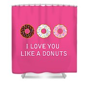 I Love You 7 Shower Curtain