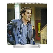 I Love You Babe Shower Curtain by Luis Ludzska