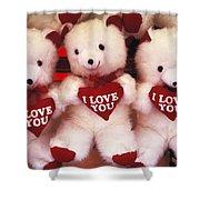 I Love You Bears Shower Curtain