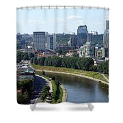 I Love You. Vilnius. Lithuania Shower Curtain