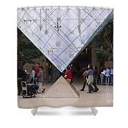I M Pei Pyramid Inside The Louvre Entrance Shower Curtain