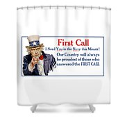 I Need You In The Navy - Uncle Sam Wwi Shower Curtain