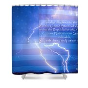 I Pledge Allegiance To The Flag  Shower Curtain by James BO  Insogna