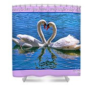 I Promise To Love You Poster By Diana Sainz Shower Curtain