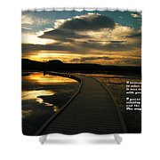 I Remember Your Hand Shower Curtain by Jeff Swan