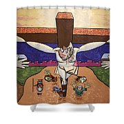 I Sacrificed Myself For You Shower Curtain by Anthony Falbo