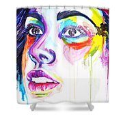 I Saw Colors Shower Curtain