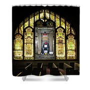 I Stand At The Door And Knock Composite Shower Curtain