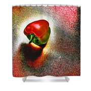 I Vote For A Really Hot Sweet Pepper Shower Curtain