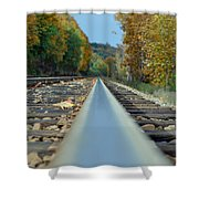 I Walk The Line Shower Curtain