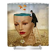 I Want To Look Inside Your Head Shower Curtain