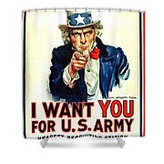 I Want You For U S Army Shower Curtain