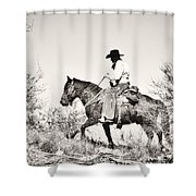 I Went Up To The Mountain... Shower Curtain