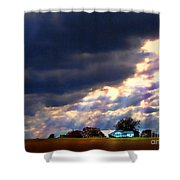 I Will Praise You Through This Storm Shower Curtain