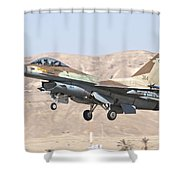 Iaf F-16c Jet Fighter Shower Curtain