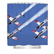 Iaf Flight Academy Aerobatics Team 6 Shower Curtain
