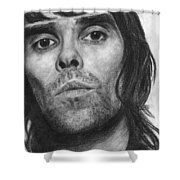 Ian Brown Pencil Drawing Shower Curtain