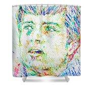 Ian Curtis Portrait Shower Curtain