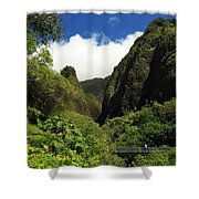 Iao Needle - Iao Valley Shower Curtain