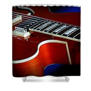 Ibanez Af75 Hollowbody Electric Guitar Cutaway Detail Shower Curtain